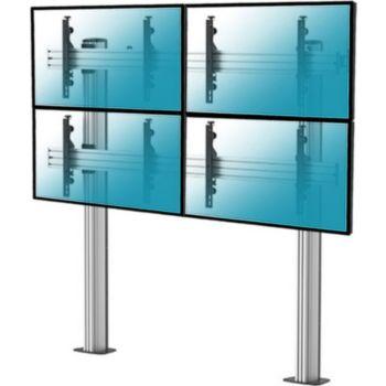 """Kimex sol pour 4 écrans TV 45""""-55"""", à visser"""