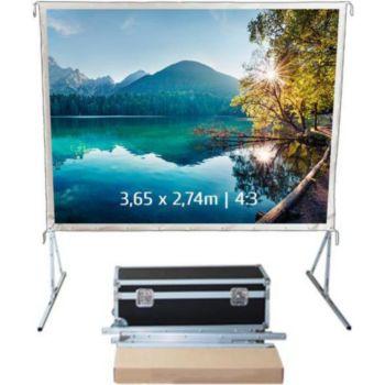 Kimex valise 3,65 x 2,74m, 4:3- Toile blanche