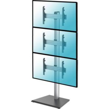 """Kimex Support de Sol pour 3 écrans TV 40""""-65"""","""