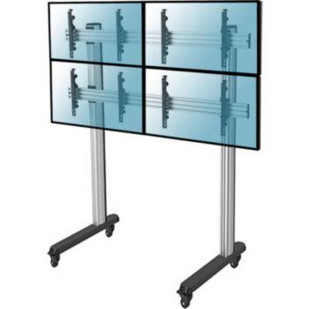 """Kimex Support 4 écrans TV 45""""-55"""", H 240 cm"""