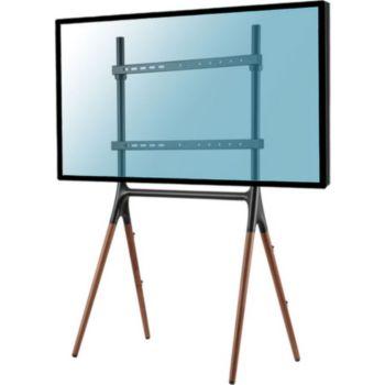 "Kimex chevalet pour écran 49""-70"" Noir/noyer"