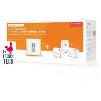 Netatmo Pack Thermostat Intelligent+3 Tetes ther