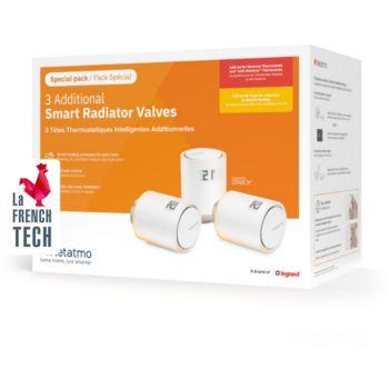 Netatmo Pack 3 Tetes thermostatiques Additionnel