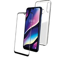 Pack Wiko  View 3 Coque flexible + Verre trempé