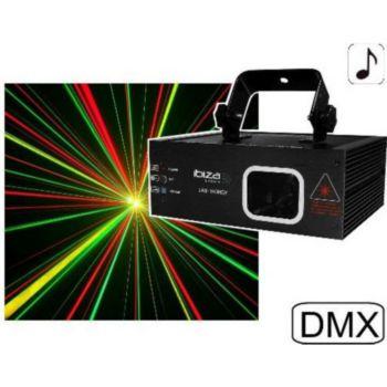 Ibiza Laser rouge vert et jaune 140 mW DMX LAS