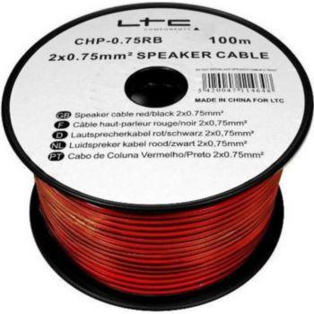 Ltc Audio Câble pour enceinte / hp 2x0.75 mm² 100