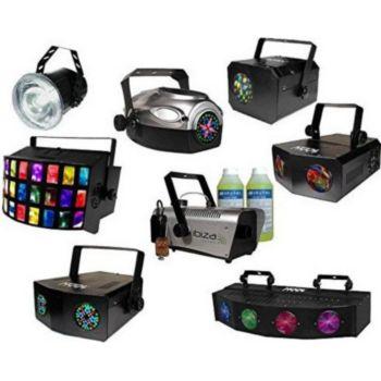 Kool Light Pack 7 jeux de lumière + machine à fumée