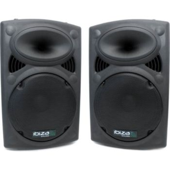 """Ibiza Sound Paire d'enceintes 15"""" / 38 cm 700W IBIZA"""