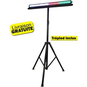 Disco Pro Barre lumineuse avec support DMX 252 LED