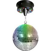 Jeu de lumières Disco Pro Boule à facettes 20 cm + moteur avec 18