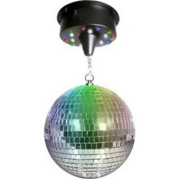 Disco Pro Boule à facettes 30 cm + moteur avec 18