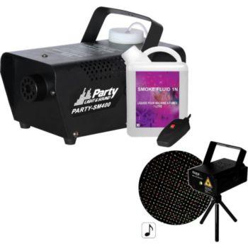 Ibiza Pack Laser LAS-S130RG + machine à fumée
