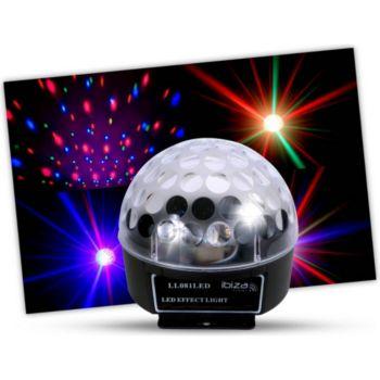 Ibiza Effet de lumière  à LEDs RVB 82 lentille