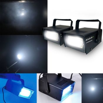 Ibiza Light Jeu de lumière - Mini Stroboscope à LEDs