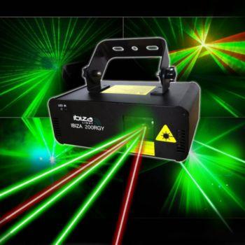 Ibiza Light Laser RVJ 200MW Rouge, jaune, vert