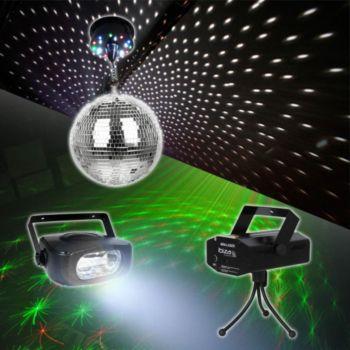 Madison Boules à facettes + stoboscope + laser D