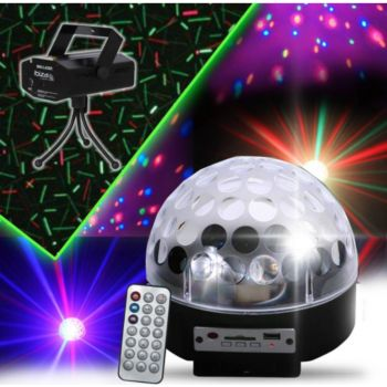 Madison Astro-4 MP3 LED RVB HP integres SD/USB +