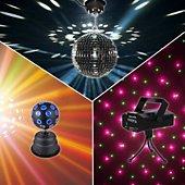 Jeu de lumières Ibiza Light Pack Light 3 jeux lumières Laser, Boule