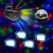 Jeu de lumières Kool Light Pack strobe + astro crystal madison + XL