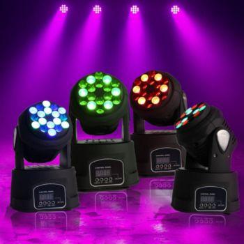 Kool Light Pack 4 Minis LYRES BEAM 18LED RVB PROJEC