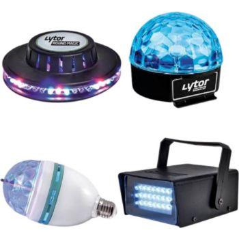 Lytor Set de 4 jeux de lumière à LEDs spécial
