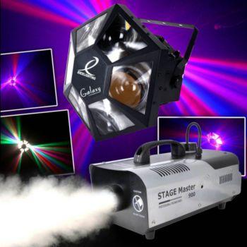 Excelighting Pack Light Dj Moon 138 LED, Machine à fu