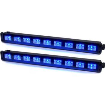 Ibiza 2 Barres à LED UV 9x1W se reflète sur ti