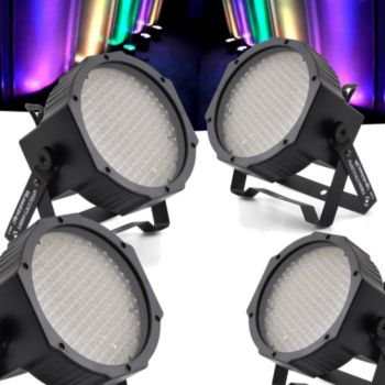 Flash Pack 4 lumières FLASH LED PAR 56 à 177 D