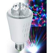 Jeu de lumières Inovaxion Ampoule à effets lumineux 3 LED RVB E27