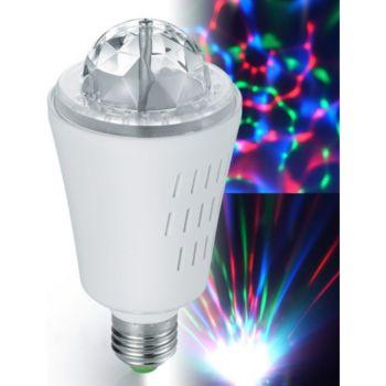 Inovaxion Ampoule à effets lumineux 3 LED RVB E27