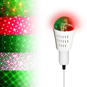 Inovaxion Ampoule à effet Rouge & Vert - 8 motifs
