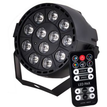 Ibiza Light Projecteur PAR à LEDs RGB3 12X3W 3-en-1