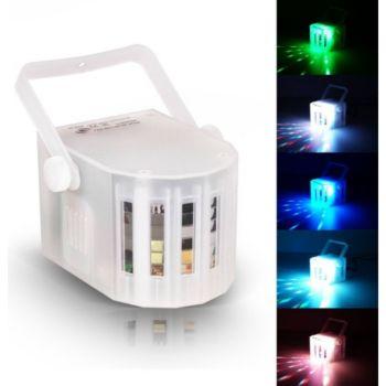 Flash Jeu de lumière Mini Derby blanc à LEDs R