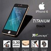Protège écran Tm Concept iPhone 6 / 6S- 5 Couleurs Noir - Titaniu