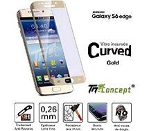 Protège écran Tm Concept Samsung Galaxy S6 Edge -  Gold - Curved