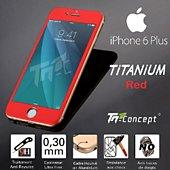 Protège écran Tm Concept Iphone 6 Plus- 5 Couleurs Rouge - Titani