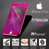 Protège écran Tm Concept Iphone 6 Plus- 5 Couleurs Rose - Titaniu