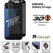 Protège écran Tm Concept Verre trempé 3D teinté - Samsung S7 Edge