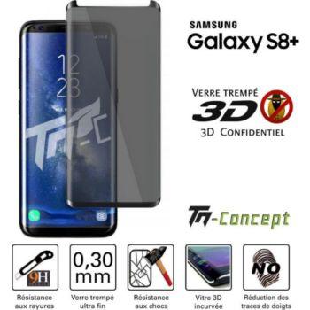 Tm Concept Samsung Galaxy S8+  Verre trempé 3D incu
