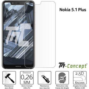 Tm Concept Verre trempé Nokia 5.1 Plus - TM Concept