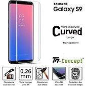 Protège écran Tm Concept Samsung Galaxy S9 - Verre trempé 3D Curv