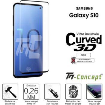 Tm Concept Samsung Galaxy S10 - Verre trempé 3D inc