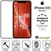 Protège écran Tm Concept Apple iPhone XR - Verre trempé intégral