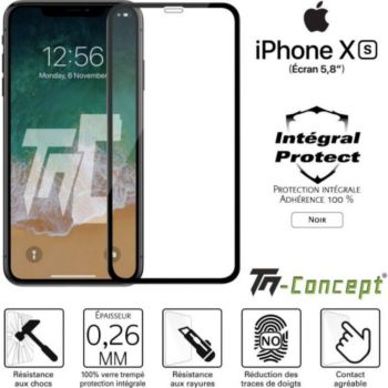 Tm Concept Apple iPhone XS - Verre trempé intégral