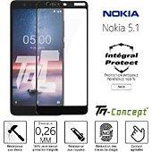 Protège écran Tm Concept Verre trempé intégral - Nokia 5.1 - Noir