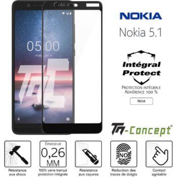 Tm Concept Verre trempé intégral - Nokia 5.1 - Noir