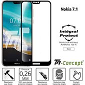 Protège écran Tm Concept Verre trempé intégral - Nokia 7.1 - Noir
