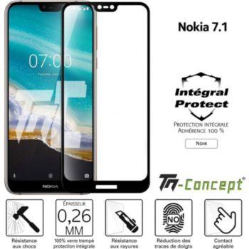 Tm Concept Verre trempé intégral - Nokia 7.1 - Noir
