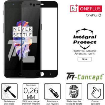 Tm Concept OnePlus 5 - Verre trempé intégral Protec