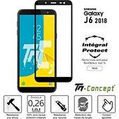 Protège écran Tm Concept Verre trempé - Samsung J6 (2018) - Noir
